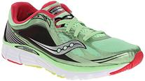SAUCONY Kinvara 5 Ladies Running Shoes, Green/Pink, US9.5