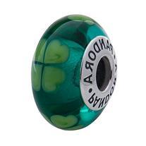 Pandora Kiss Me, I'm Irish Charm with Green Murano Glass in