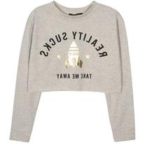 Kiss & Tell Sweatshirt With Reality Sucks Print
