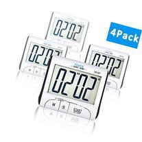 4 Pack Senbowe™ Digital Kitchen Timer/ Cooking Timer with