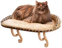 K&H Pet Products Kitty Sill Deluxe with Bolster Tan Kitty