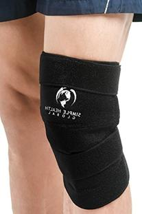 Knee Support Sleeve Wrap By Simple Health, Adjustable