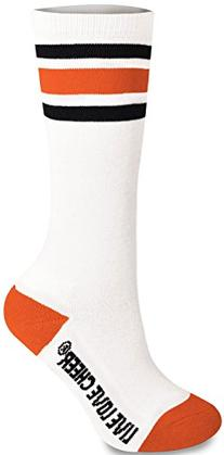 Knee High Striped Sock Orange Youth