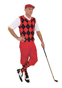 Red Knickers and Cap Red Black Argyle Sweater and Sock