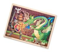 Melissa & Doug Knight vs. Dragon Wooden Jigsaw Puzzle With Storage Tray