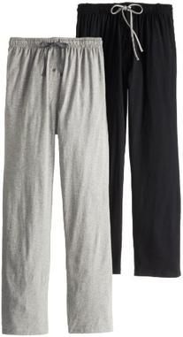 Hanes Men's Solid Knit Jersey Pajama Pant, Black/Light