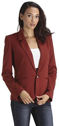 CARAPACE Womens Women's Knit Long Sleeve Blazer with stripes