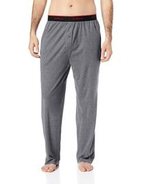 Hanes Men's Knit Pant with Elastic Waistband, Grey Heather,