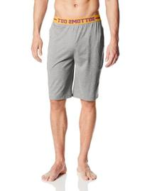 Bottoms Out Men's Knit Sleep Shorts, Light Grey Heather,