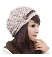 Fashion Women Knit Snow Hat Winter Snowboarding Beanie