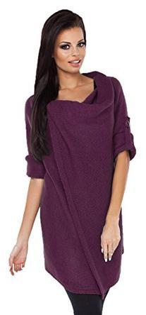 Glamour Empire Womens Knitted Warm Coat Waterfall Blazer
