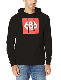 686 Men's Knockout Pullover Hoody, Black, Large