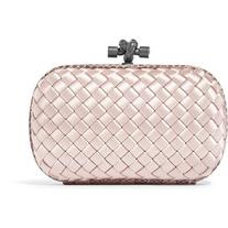 Bottega Veneta The Knot watersnake-trimmed intrecciato satin