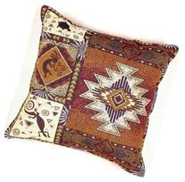 "Kokopelli Native American Decorative Throw Pillow 17"" x 17"