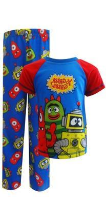 Komar Kids Little Boys' Yo Gabba Gabba Pajama Set, Blue, 3T