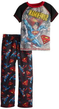 Komar Kids Big Boys' Black Superman Day Of Doom Pajama Set,