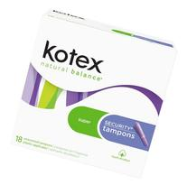 Kotex Super Security Unscented Tampon - 18 pads/pk