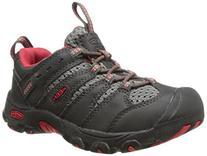 KEEN Koven Low Hiking Shoe , Raven/Ribbon Red, 8 M US