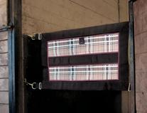 Kensington KPP Stall Guard with Hardware, Deluxe Black Plaid