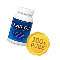 Viva Labs Krill Oil: 100% Pure Cold Pressed Antarctic Krill