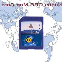 OUKU Kudos 4gb GPS Standard SD Card with  North America Maps