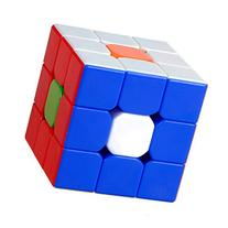 Amsam Kungfu 3x3 Stickerless Speed Cube, Durable with Vivid