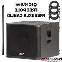 QSC KW181 1000 Watts Powered Subwoofer - Free KW181 Pole and