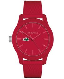 Lacoste Men's L.12.12 Red Silicone Strap Watch 43mm 2010764