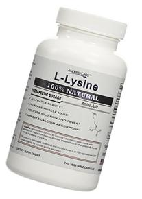 Superior Labs L-Lysine 100% Natural 500mg Dietary Supplement