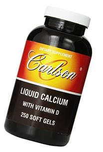 Carlson Labs Liquid Calcium with Vitamin D, 250 Softgels