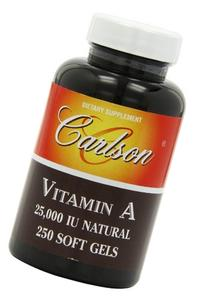Carlson Labs Vitamin A Natural, 25000 IU, 250 Softgels