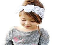 CreazyDog  Fashion Lace Big Bow Hair Band Baby Head Wrap
