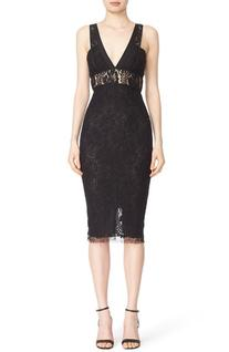 Women's Victoria Beckham Lace Kick Midi Dress, Size 4 US / 8