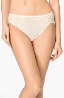 Women's Wacoal 'Bodysuede' Lace Trim High Cut Briefs, Size 9