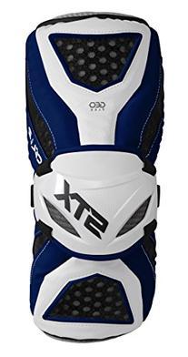 STX Lacrosse Cell 3 Arm Guard, Navy/White, Medium