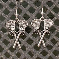 LACROSSE EARRINGS are Embellished with Small Clear Crystals