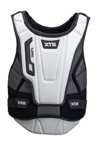 STX Lacrosse Shield Pro goalie Chest Protector, White/Black