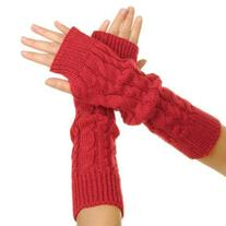 Eforcase Women Lady Girl Knitted Crochet Long Soft gloves