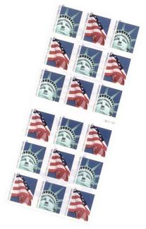 Lady Liberty and U.S. Flag ATM Sheet of 18 x Forever US