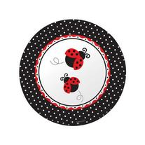 Creative Converting Ladybug Fancy Round Large Banquet Plates