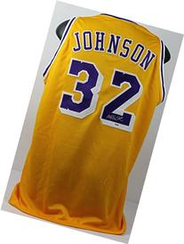Lakers Magic Johnson Authentic Signed Yellow Jersey
