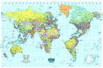 House of Doolittle Write On/Wipe Off Laminated World Map 50