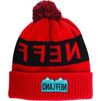 neff Men's Lando Beanie, Red, One Size