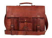 Rustic Town 16 inch Genuine Leather Messenger Bag -