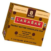 Larabar Gluten Free Bar, Peanut Butter Chocolate Chip, 1.6 oz Bars