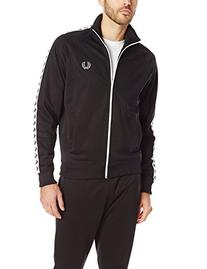 Fred Perry Men's Tricot Track Jacket, Black A, Medium