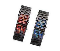 Abco Tech Lava Style Iron Samurai Black Bracelet LED