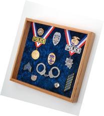 "Law Enforcement Memorabilia Shadow Box Display - 20""x18""x3"