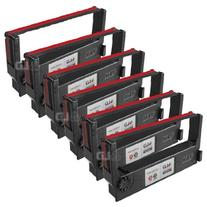 LD © Epson Compatible Replacement 6 Pack Black and Red POS