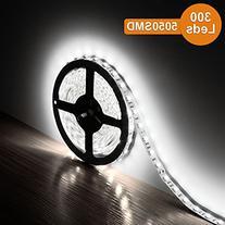 LE 16.4ft 300 SMD 5050 LEDs Flexible Strip Lights, Daylight